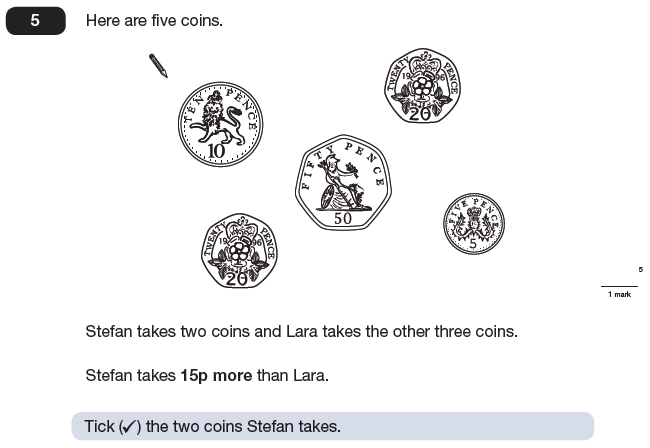 Question 05 Maths KS2 SATs Papers 2009 - Year 6 Past Paper 2, Money