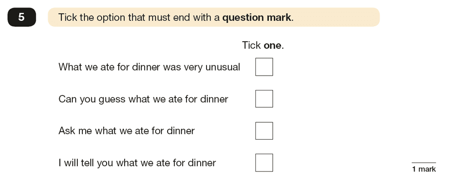 Question 05 SPaG KS2 SATs Papers 2016 - Year 6 English Practice Paper 1, Punctuation