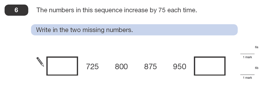 Question 06 Maths KS2 SATs Papers 2008 - Year 6 Sample Paper 1, Algebra, Patterns & Sequences