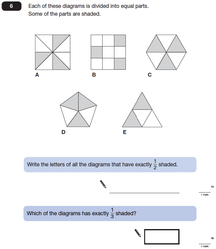 Question 06 Maths KS2 SATs Papers 2014 - Year 6 Practice Paper 1, Numbers, Fractions