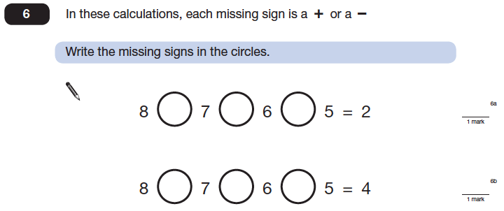 Question 06 Maths KS2 SATs Papers 2014 - Year 6 Practice Paper 2, Algebra, BIDMAS