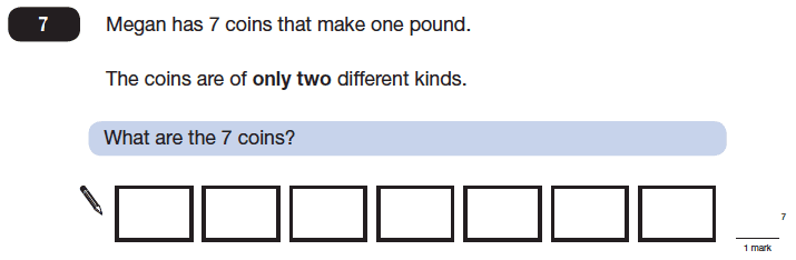 Question 07 Maths KS2 SATs Papers 2014 - Year 6 Sample Paper 2, Numbers, Word Problems, Money, Logical Problems