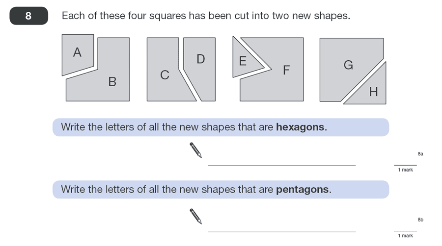 Question 08 Maths KS2 SATs Papers 2010 - Year 6 Past Paper 1, Geometry, 2D shapes, Polygons