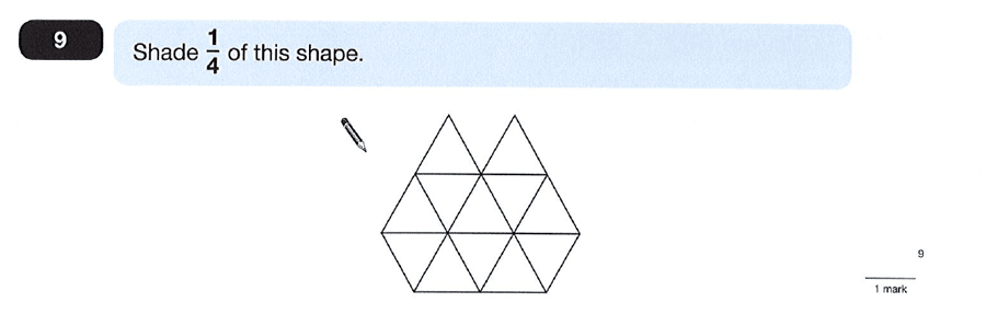Question 09 Maths KS2 SATs Papers 2012 - Year 6 Past Paper 1, Numbers, Fractions