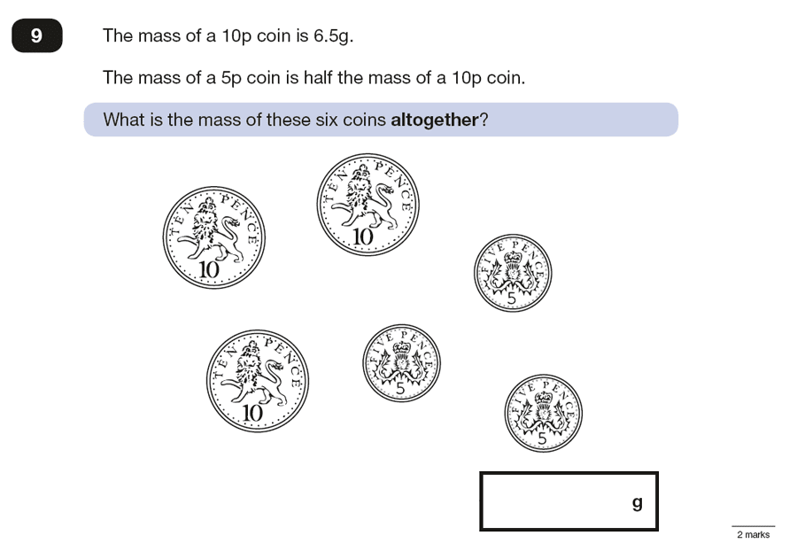 Question 09 Maths KS2 SATs Papers 2016 - Year 6 Sample Paper 3 Reasoning, Numbers, Multiplication, Word Problems, Money