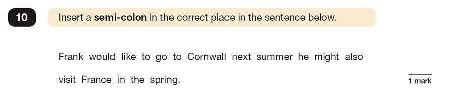 Question 10 SPaG KS2 SATs Papers 2019 - Year 6 English Practice Paper 1, Punctuation