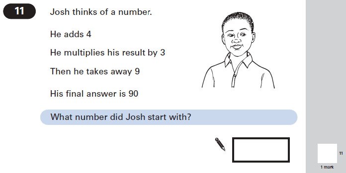 Question 11 Maths KS2 SATs Papers 2005 - Year 6 Sample Paper 2, Numbers, Addition, Division, Multiplication, Subtraction, Word Problems