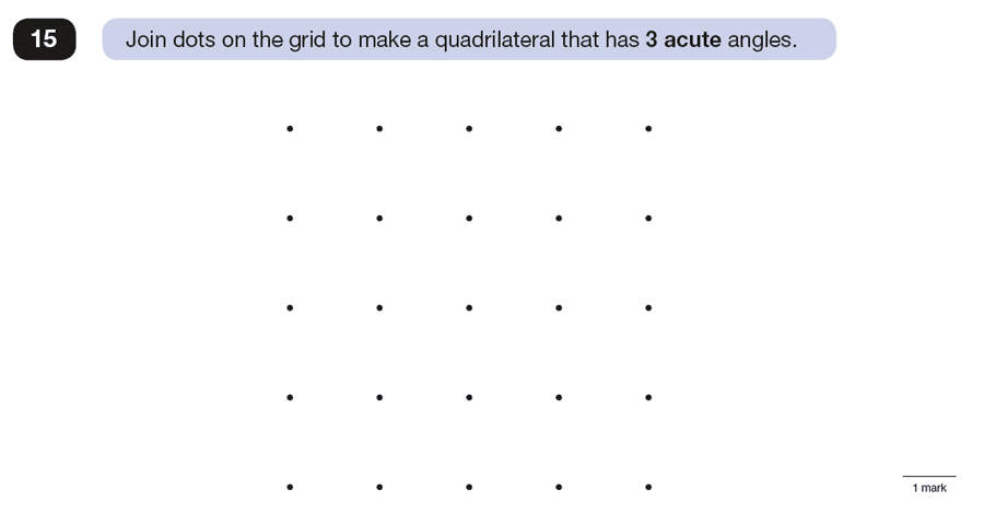 Question 15 Maths KS2 SATs Papers 2016 - Year 6 Exam Paper 3 Reasoning, Geometry, Angles, Polygons