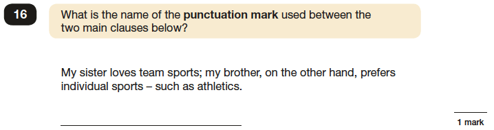Question 16 SPaG KS2 SATs Papers 2016 - Year 6 English Sample Paper 1, Punctuation