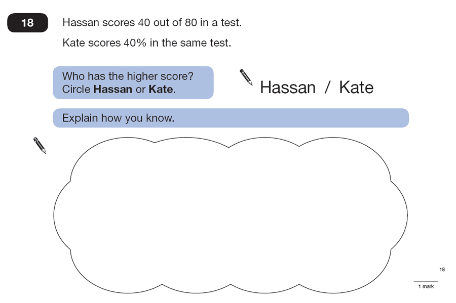 Question 18 Maths KS2 SATs Papers 2007 - Year 6 Practice Paper 2, Numbers, Percentages, Word Problems