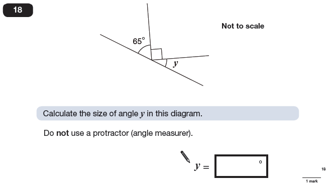 Question 18 Maths KS2 SATs Papers 2009 - Year 6 Practice Paper 2, Geometry, Angles
