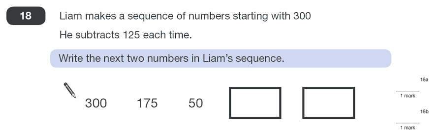 Question 18 Maths KS2 SATs Papers 2010 - Year 6 Sample Paper 1, Algebra, Patterns & Sequences