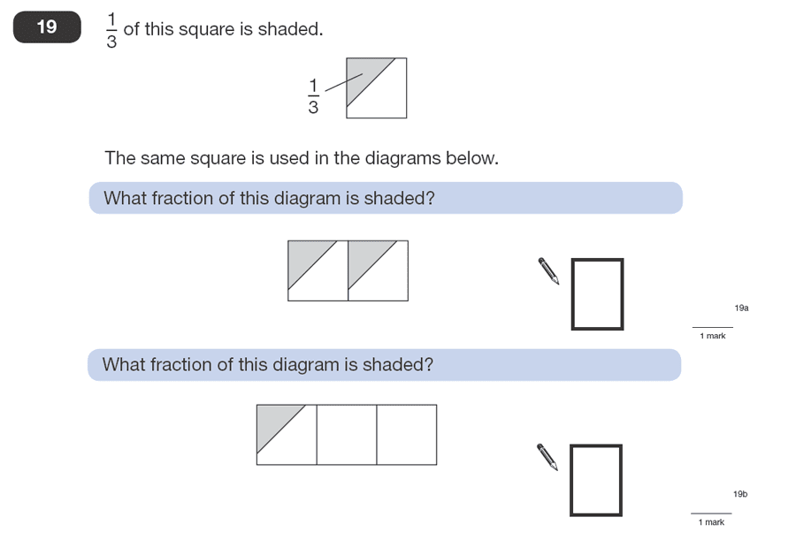 Question 19 Maths KS2 SATs Papers 2008 - Year 6 Practice Paper 1, Numbers, Fractions