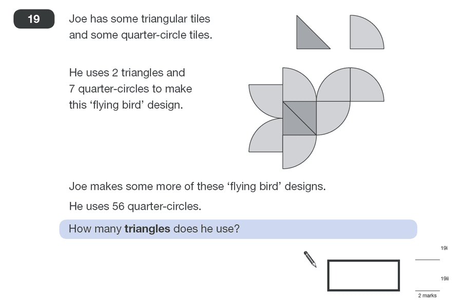 Question 19 Maths KS2 SATs Papers 2011 - Year 6 Exam Paper 2, Numbers, Word Problems, Ratio & Proportion