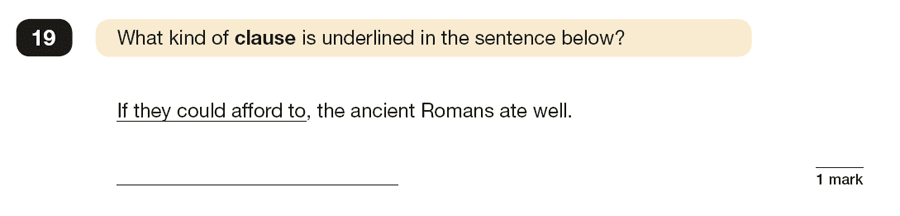 Question 19 SPaG KS2 SATs Papers 2019 - Year 6 English Past Paper 1, Combining words, phrases and clauses