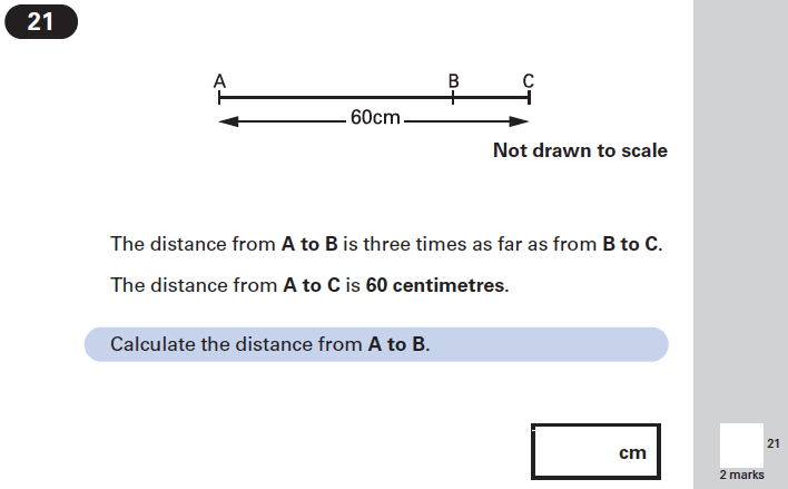 Question 21 Maths KS2 SATs Papers 2002 - Year 6 Exam Paper 2, Numbers, Word Problems, Algebra, Algebra Dependent Problems