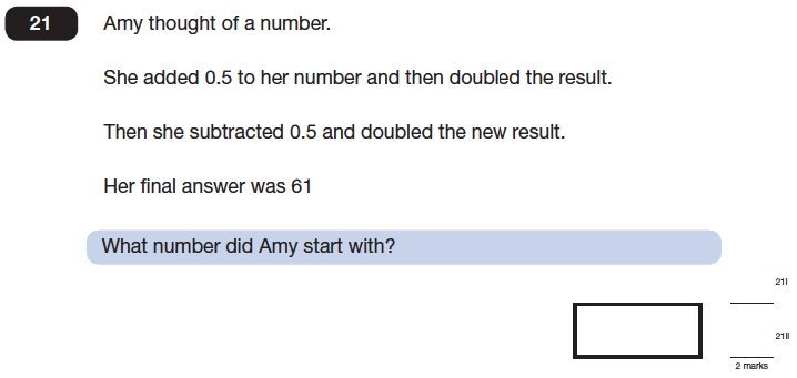 Question 21 Maths KS2 SATs Papers 2014 - Year 6 Past Paper 2, Numbers, Multiplication, Division, Subtraction, Addition, Word Problems