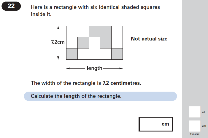 Question 22 Maths KS2 SATs Papers 2004 - Year 6 Exam Paper 2, Geometry, Square, Rectangle