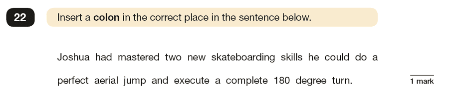 Question 22 SPaG KS2 SATs Papers 2019 - Year 6 English Practice Paper 1, Punctuation