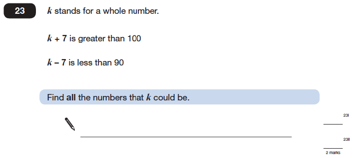Question 23 Maths KS2 SATs Papers 2006 - Year 6 Sample Paper 1, Numbers, Addition, Subtraction, Logical Problems