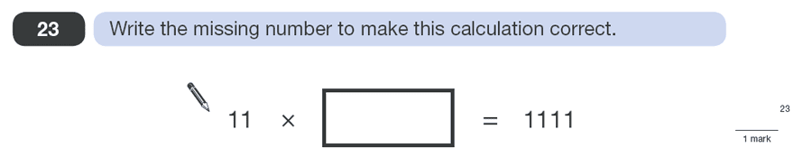 Question 23 Maths KS2 SATs Papers 2010 - Year 6 Exam Paper 1, Numbers, Division