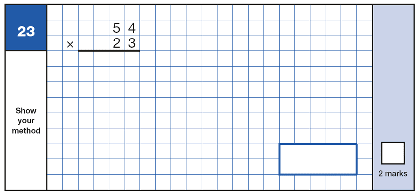 Question 23 Maths KS2 SATs Papers 2016 - Year 6 Exam Paper 1 Arithmetic, Numbers, Multiplication