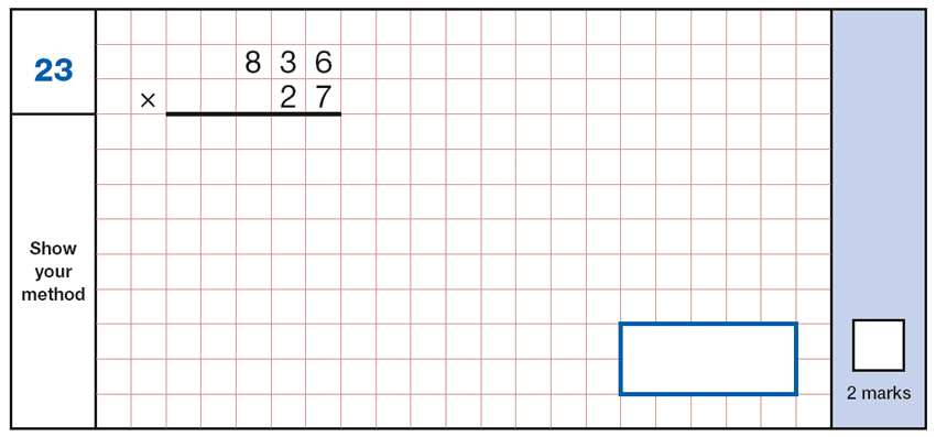 Question 23 Maths KS2 SATs Papers 2019 - Year 6 Exam Paper 1 Arithmetic, Numbers, Multiplication