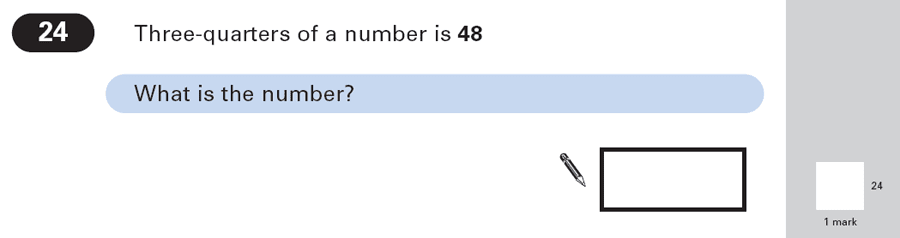 Question 24 Maths KS2 SATs Papers 2003 - Year 6 Practice Paper 1, Numbers, Fractions