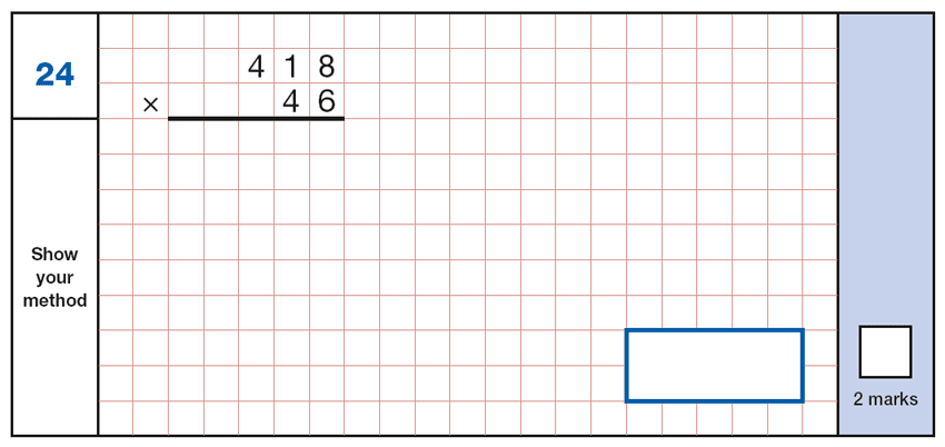 Question 24 Maths KS2 SATs Papers 2017 - Year 6 Past Paper 1 Arithmetic, Numbers, Multiplication