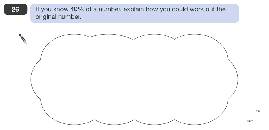 Question 26 Maths KS2 SATs Papers 2010 - Year 6 Sample Paper 1, Numbers, Percentages, Logical Problems