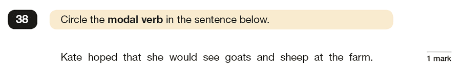 Question 38 SPaG KS2 SATs Papers 2019 - Year 6 English Practice Paper 1, Verb forms, tenses and consistency