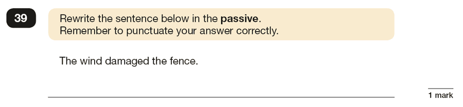 Question 39 SPaG KS2 SATs Papers 2019 - Year 6 English Past Paper 1, Verb forms, tenses and consistency