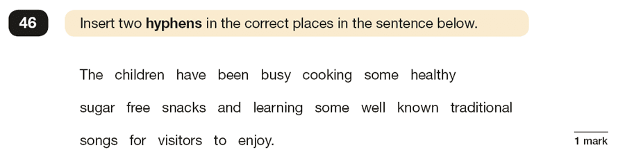 Question 46 SPaG KS2 SATs Papers 2017 - Year 6 English Past Paper 1, Grammatical terms / word classes