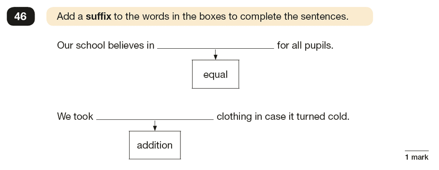 Question 46 SPaG KS2 SATs Papers 2018 - Year 6 English Exam Paper 1, Vocabulary