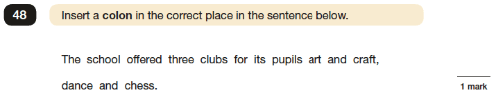 Question 48 SPaG KS2 SATs Papers 2016 - Year 6 English Past Paper 1, Punctuation