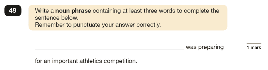 Question 49 SPaG KS2 SATs Papers 2017 - Year 6 English Practice Paper 1, Combining words, phrases and clauses