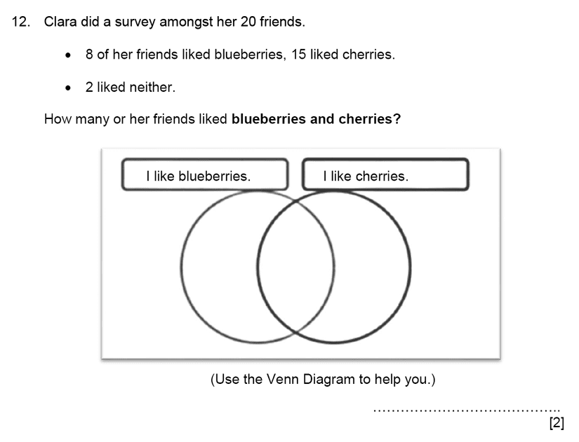 11 Plus 11 Maths Venn Diagram Past Paper Questions Pi Academy