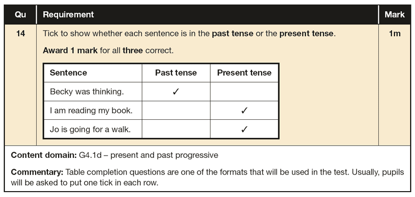 Answer 14 SPaG KS1 SATs Papers 2016 - Year 2 English Practice Paper 2, Verb tenses and consistency