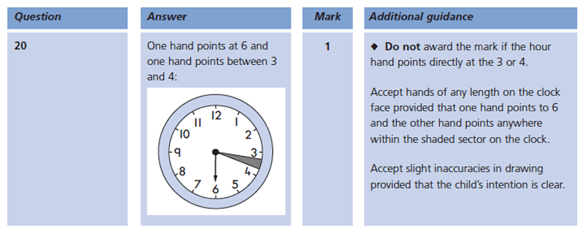 Answer 20 Maths KS1 SATs Papers 2004 - Year 2 Past Paper 2, Measurement, Time