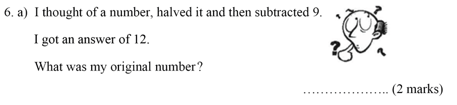 Bancroft's School - Sample 11+ Maths Paper 2020 Question 06, Numbers, Percentages, Division, Word Problems, Algebra, Linear Equations, Measurement, Unit Conversions
