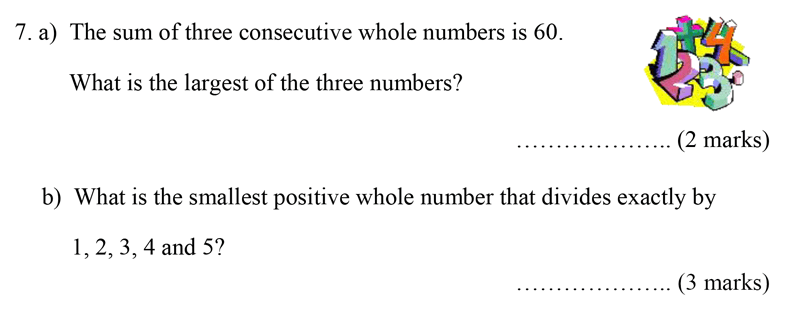 Bancroft's School - Sample 11+ Maths Paper 2020 Question 09, Numbers, LCM, Word Problems, Algebra