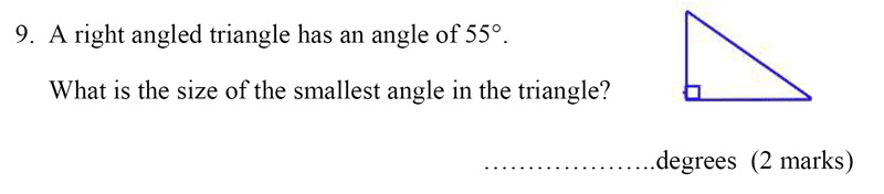 Bancroft's School - Sample 11+ Maths Paper 2020 Question 11, Geometry, Angles, Triangles