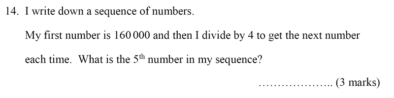 Bancroft's School - Sample 11+ Maths Paper 2020 Question 19, Numbers, Division, Number Patterns and Sequences