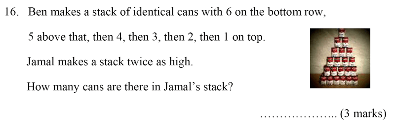 Bancroft's School - Sample 11+ Maths Paper 2020 Question 21, Numbers, Addition, Logical Problems, Word Problems