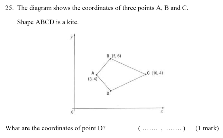 Bancroft's School - Sample 11+ Maths Paper 2020 Question 32, Geometry, Coordinates, Polygons, Logical Problems