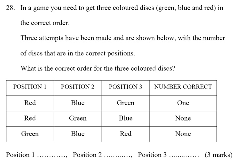 Bancroft's School - Sample 11+ Maths Paper 2020 Question 35, Numbers, Word Problems, Logical Problems
