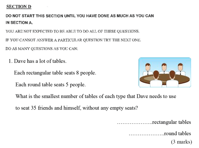 Bancroft's School - Sample 11+ Maths Paper 2020 Question 38, Numbers, Multiples, Word Problems, Logical Problems, Algebra