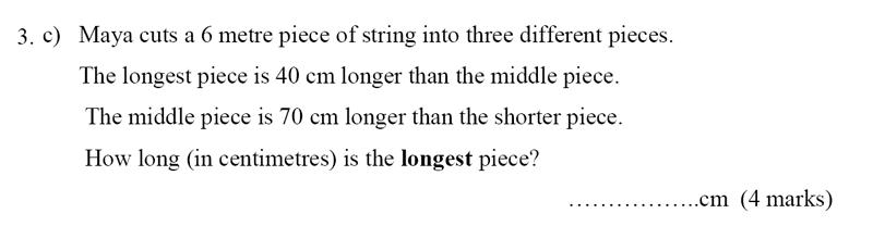 Bancroft's School - Sample 11+ Maths Paper 2020 Question 42, Numbers, Word Problems, Algebra, Algebra Dependent Problems