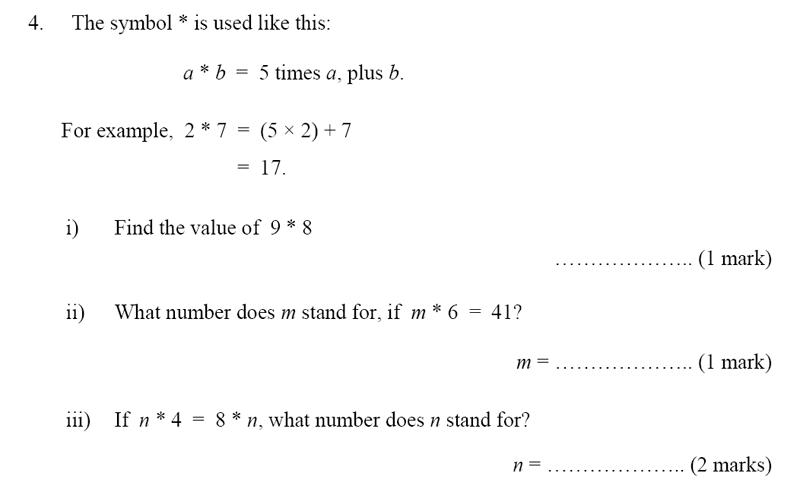 Bancroft's School - Sample 11+ Maths Paper 2020 Question 43, Algebra, BIDMAS, Linear Equations