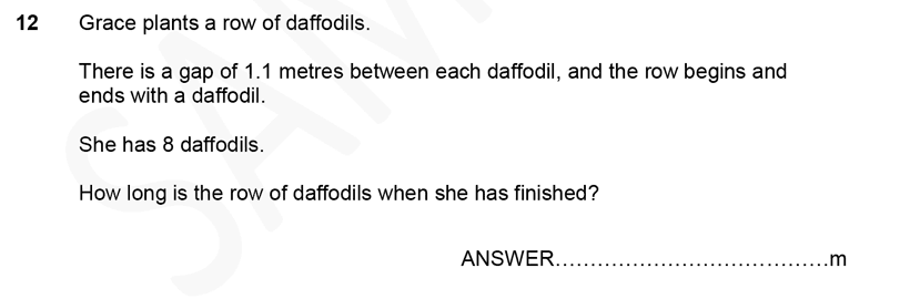 Forest School - 11 Plus Maths Sample Paper 1 - 2020 Question 12, Numbers, Decimals, Addition, Word Problems, Logical Problems